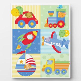 Transportation Art Easel Plaque