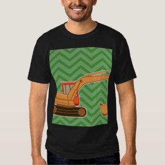 Transportation Heavy Equipment Backhoe - Green Shirt