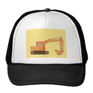 Transportation Heavy Equipment Backhoe - Yellow Mesh Hat