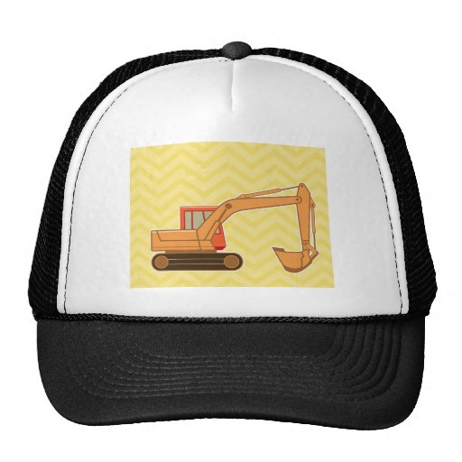 Transportation Heavy Equipment Backhoe - Yellow Mesh Hat