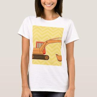 Transportation Heavy Equipment Backhoe - Yellow T-Shirt