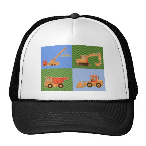 Transportation Heavy Equipment - Collage Mesh Hats
