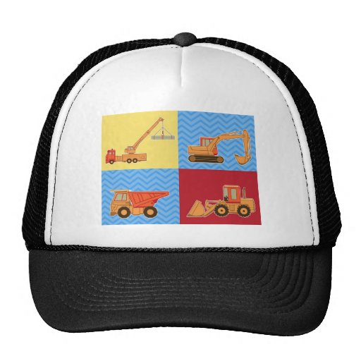 Transportation Heavy Equipment – Collage Mesh Hats