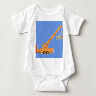 Transportation Heavy Equipment Crane Baby Bodysuit