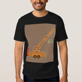 Transportation Heavy Equipment Crane – Brown Tee Shirts