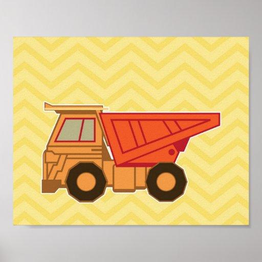 Transportation Heavy Equipment Dump Truck Print