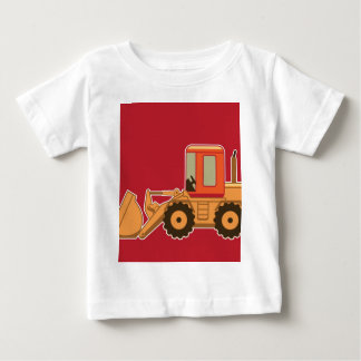 Transportation Heavy Equipment Payloader - Red Baby T-Shirt