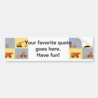 Transportation Heavy Equipments -Plain and Chevron Bumper Stickers