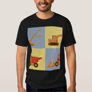 Transportation Heavy Equipments -Plain and Chevron Shirts