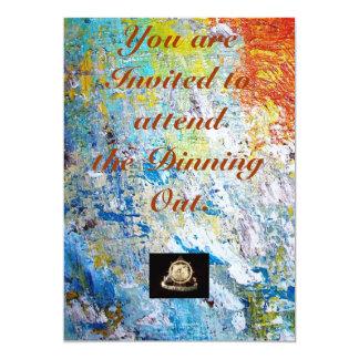 Transportation Invatation: Dinning Out 13 Cm X 18 Cm Invitation Card