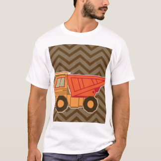 Transportation orange dump truck - brown T-Shirt