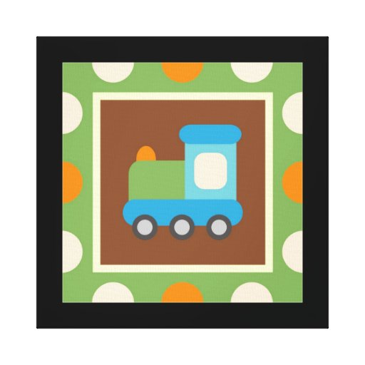 Transportation Wrapped Canvas Wall Decor for Kids Canvas Prints