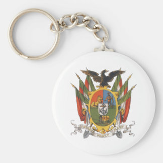 Transvaal Coat of Arms, South Africa: Pre-Boer War Basic Round Button Key Ring