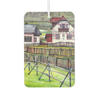 Transylvania, Romania, Picturesque Painted Scenery Car Air Freshener