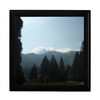 Transylvanian Morning in the Mountains Large Square Gift Box