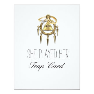Trap Card Engagement Cards 11 Cm X 14 Cm Invitation Card