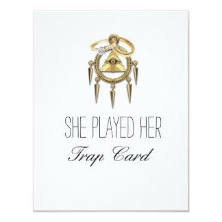 Trap Card Engagement Cards 11 Cm X 14 Cm Invitation Card