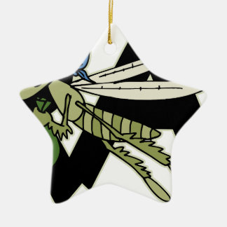 Trap Grasshopper Ceramic Ornament