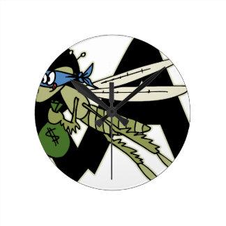Trap Grasshopper Round Clock