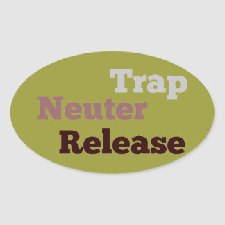 Trap Neuter Release oval sticker