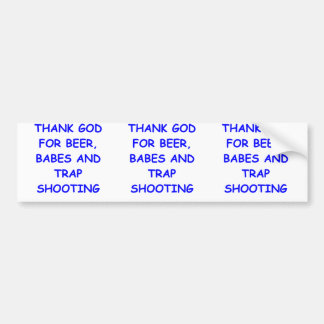 trap shooting bumper stickers