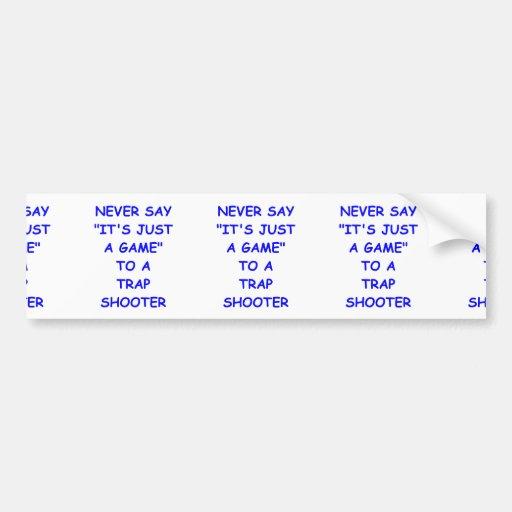 trap shooting bumper sticker
