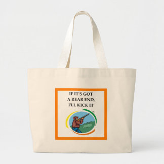 trap shooting large tote bag