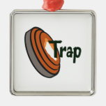 TRAP SHOOTING Silver-Colored SQUARE DECORATION