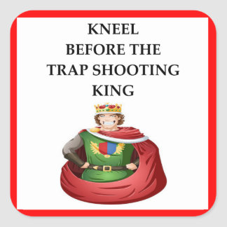 trap shooting square sticker