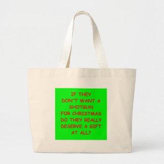 trap shooting jumbo tote bag