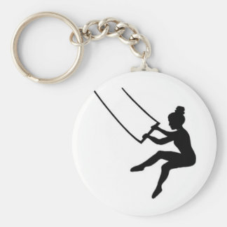 trapeze artist basic round button key ring
