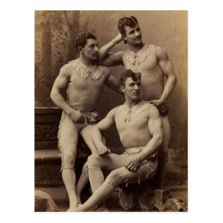Trapeze Gents Postcard