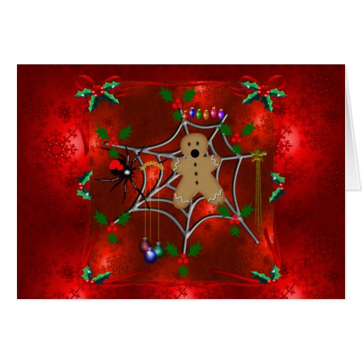 Trapped Gingerbread Greeting Card