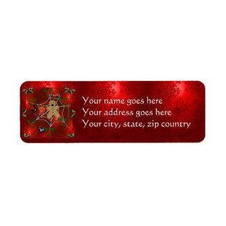 Trapped Gingerbread Return Address Label