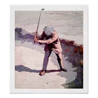 Trapped -  Golf Watercolour Print