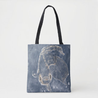 Trapped in ice tote bag