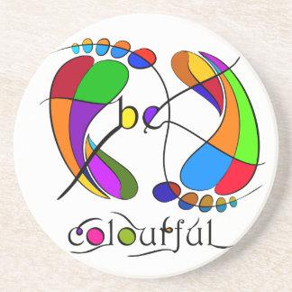 Trapsanella - be colourful coaster