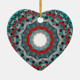 trash atom ceramic ornament