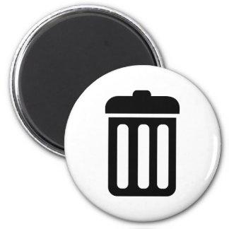 Trash bin symbol magnet