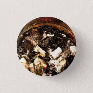 Trash Can Fire 3 Cm Round Badge
