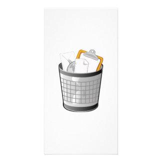 Trash Can Photo Greeting Card