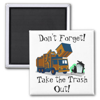 Trash Day Reminder Magnet