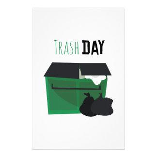 Trash Day Personalized Stationery