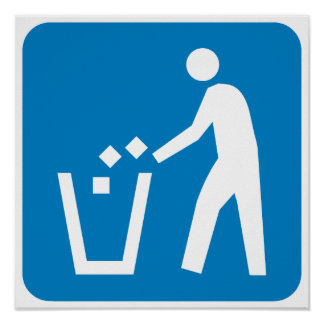Trash / Garbage / Refuse Highway Sign