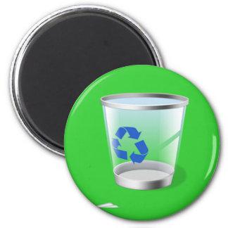 Trash Icon 6 Cm Round Magnet