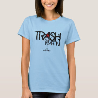 TRASH Martini Ladies Black Logo T-Shirt
