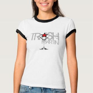 TRASH Martini Ladies Cap Sleeve Raglan Silver Logo T-Shirt