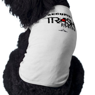 TRASH Martini Security Doggie Ribbed Tank Top Sleeveless Dog Shirt