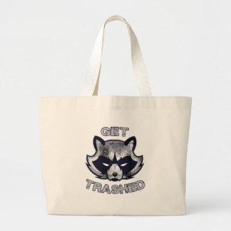 Trash Panda Party People Large Tote Bag