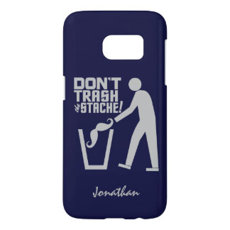 Trash Stache custom name & color phone cases
